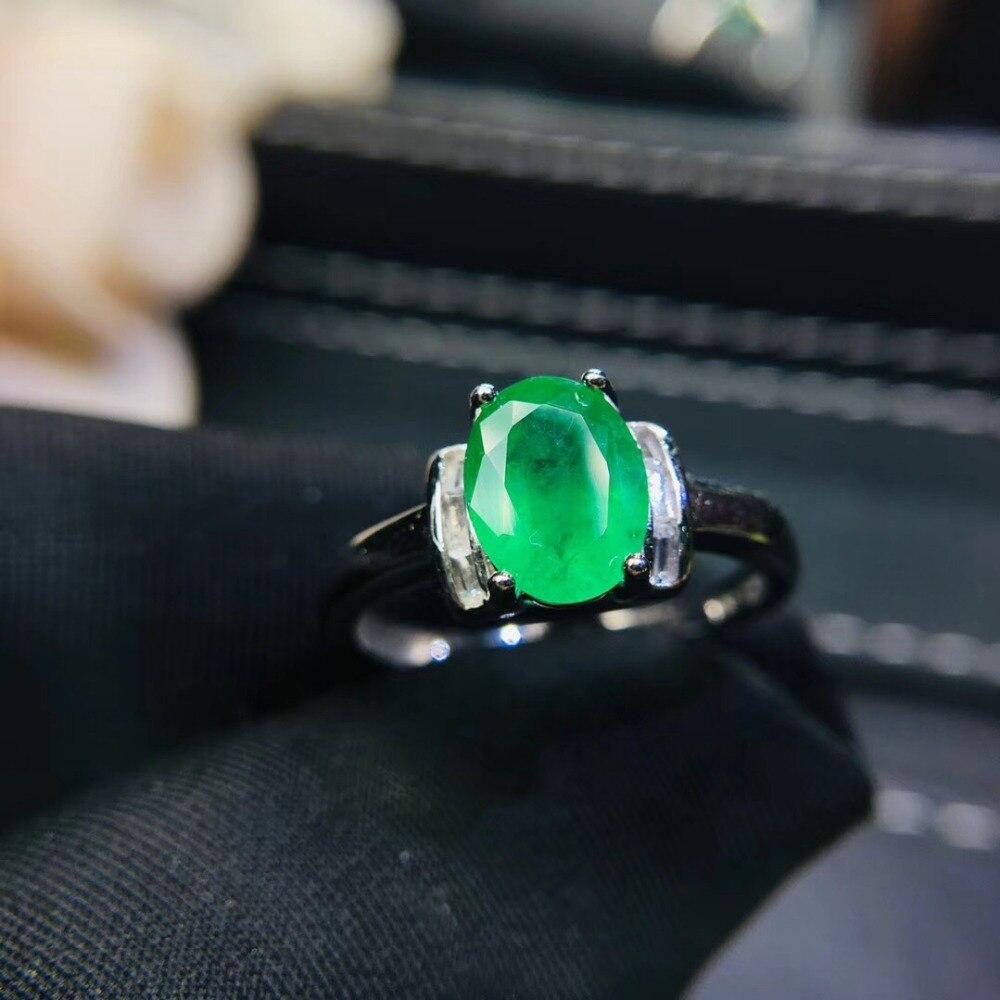 Colombie bijoux fins anneaux vrais diamants pierres précieuses naturelles émeraude bagues de mariage pour femmes bague Fine