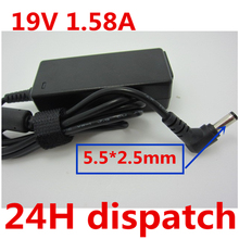 HSW 19V 1.58A 5.5 * 2.5 MM Laptop AC Power Adapter Charger For TOSHIBA NB200 Notebook Mini NB205 free shipping