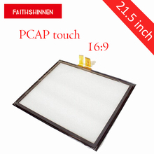 21.5 inch PCAP Multi 10points Touch Film Touch Foil USB type LCD capacitive touch screen panel Interactive недорого