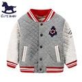 2015New Boys Jacket winter&Autumn coat for children Plus velvet outerwear children's cotton coat baby Boys clothing for 2-10Y