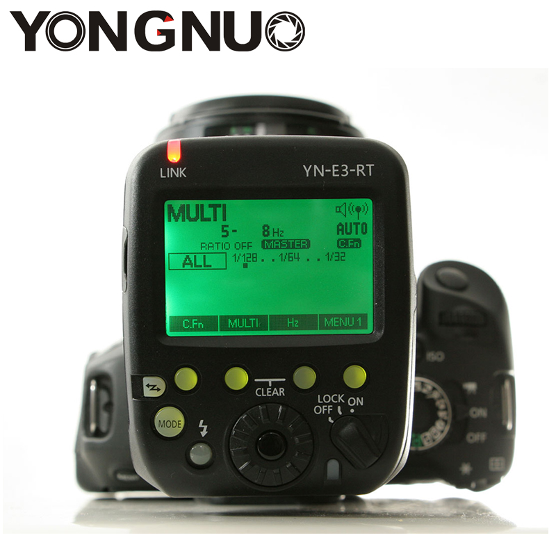 YONGNUO YN-E3-RT TTL Radio Trigger Speedlite Transmitter as ST-E3-RT for Canon 600EX-RT,YONGNUO YN600EX-RT 3pcs yongnuo yn600ex rt auto ttl hss flash speedlite yn e3 rt controller for canon 5d3 5d2 7d mark ii 6d 70d 60d