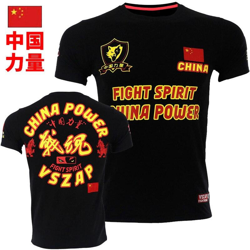 VSZAP NEW Bangkok Boxing MMA T Shirt Gym Tee Shirt Fighting Fighting Martial Arts Fitness Training Muay Thai TShirt MenHomme