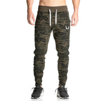 Free Shipping 2016 New Low Rise Military Skinny Men Pants Camouflage Harem Personality GYM Male Plus