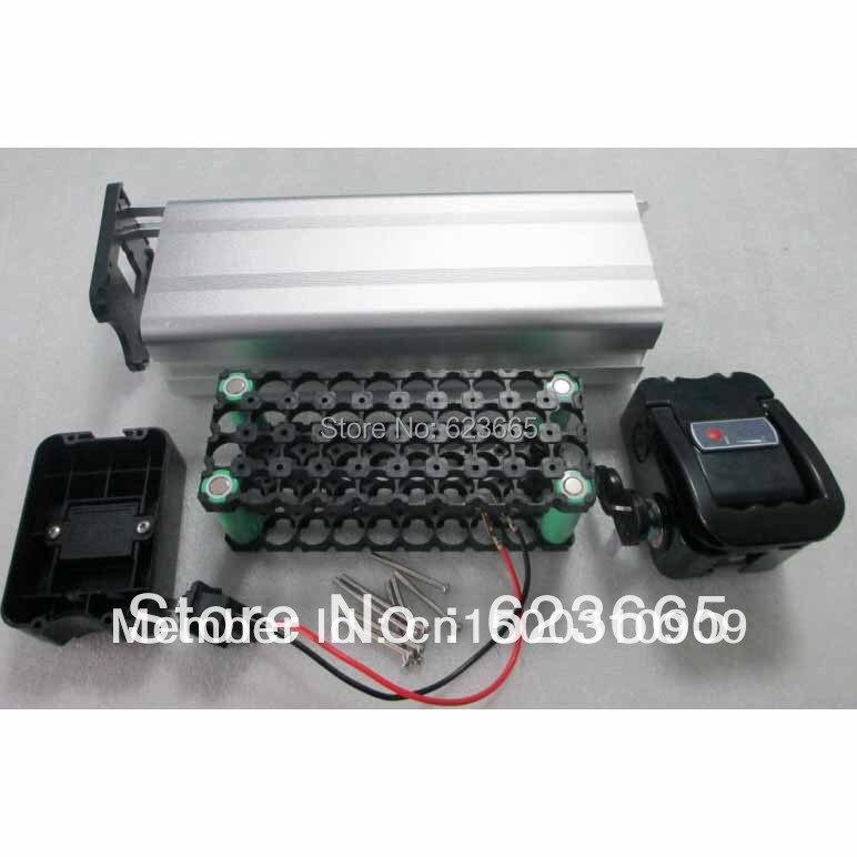 Freies Verschiffen Ebike batterie box Elektrische fahrrad batterie fall für DIY akku Mit freies 18650 küvettenhalter 36 V batterien box