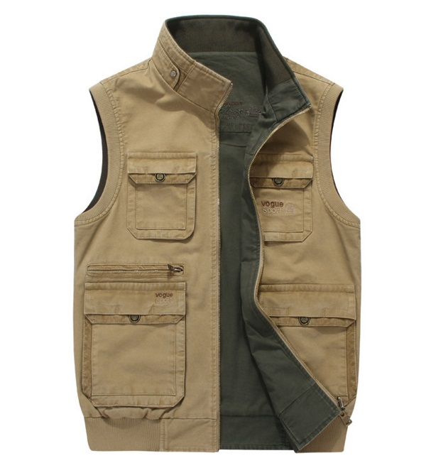 Breathable Fishing vest for young man multi pocket fishing clothingBreathable Fishing vest for young man multi pocket fishing clothing