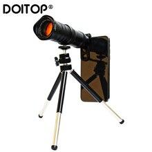 Doitop hd 4k 18 30x zoom lente do telescópio do telefone móvel telefoto lentes externas da câmera do smartphone para o iphone samsung huawei