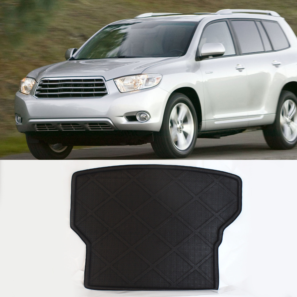 Carpet Rear Truck Cargo Mat Factory Liner Protecter All Weather Waterproof Anti-Slip For Toyota Highlander 07 2007-2014