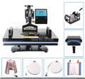 7 en 1 Combinado de Calor Máquina de La Prensa de Transferencia de Calor Camiseta Impresora Digital Impresora Gorra de Placa de La Impresora todo en uno