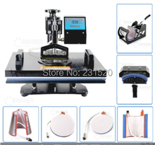7 in 1 Digital Combo Heat Press Machine Heat Transfer T-shirt Printer Hat Printer Plate Printer all in one