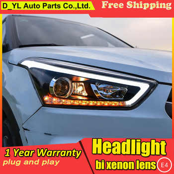 Car Styling Headlights for Hyundai IX25 2015-19 LED Headlight for Creta Headlamp LED Daytime Running Light LED DRL Bi-Xenon HID