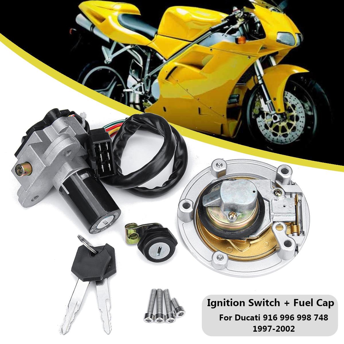 Переключатель зажигания цилиндра замок + топлива Кепки W/2 Ключи для Ducati Monster 695 620 M620 1997-2002