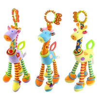 New Quality Deer Plush Toys Bed Baby Mobile Hanging Baby Rattle Toy Giraffe With Bell Ring