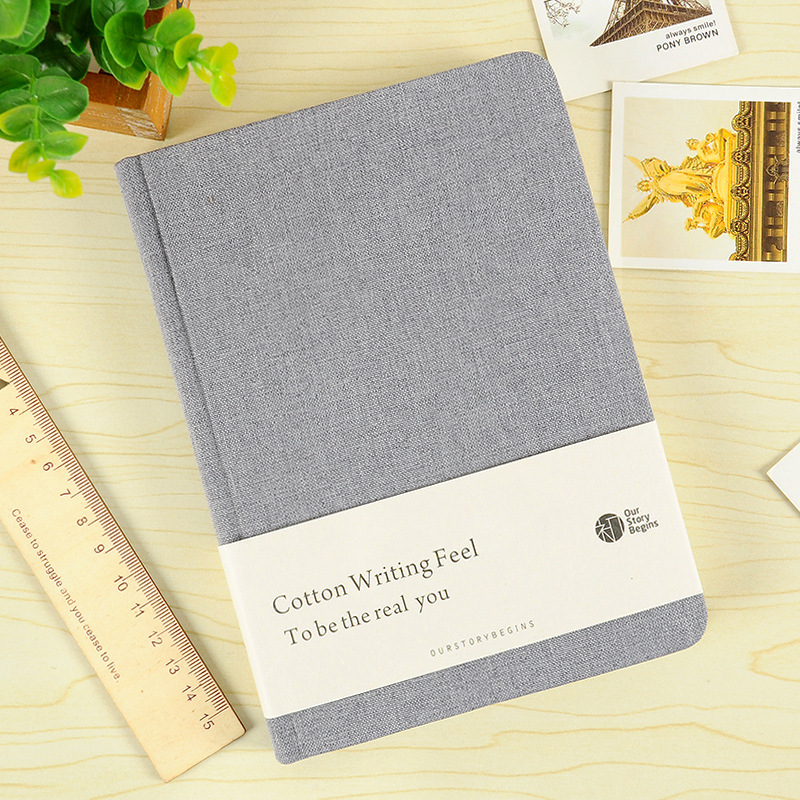 A5 Pure Cotton Business Notebook Hardback Book Simple Cloth Cover Diary Notebook