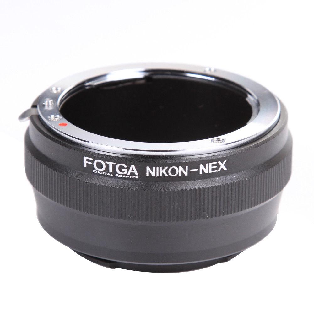 Bague D'adaptation Objectif fotga pour Nikon AI Lens pour Sony E-Mont NEX-7 6 5N A7 A7S A7R II A6500 A6300 caméra