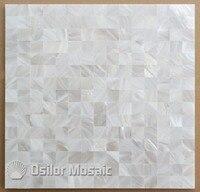 Kolor biały kwadrat wzór 100% naturalne Chiński masa perłowa płytki do dekoracji wnętrz domu płytki polerowane płytki powłoki ścienne