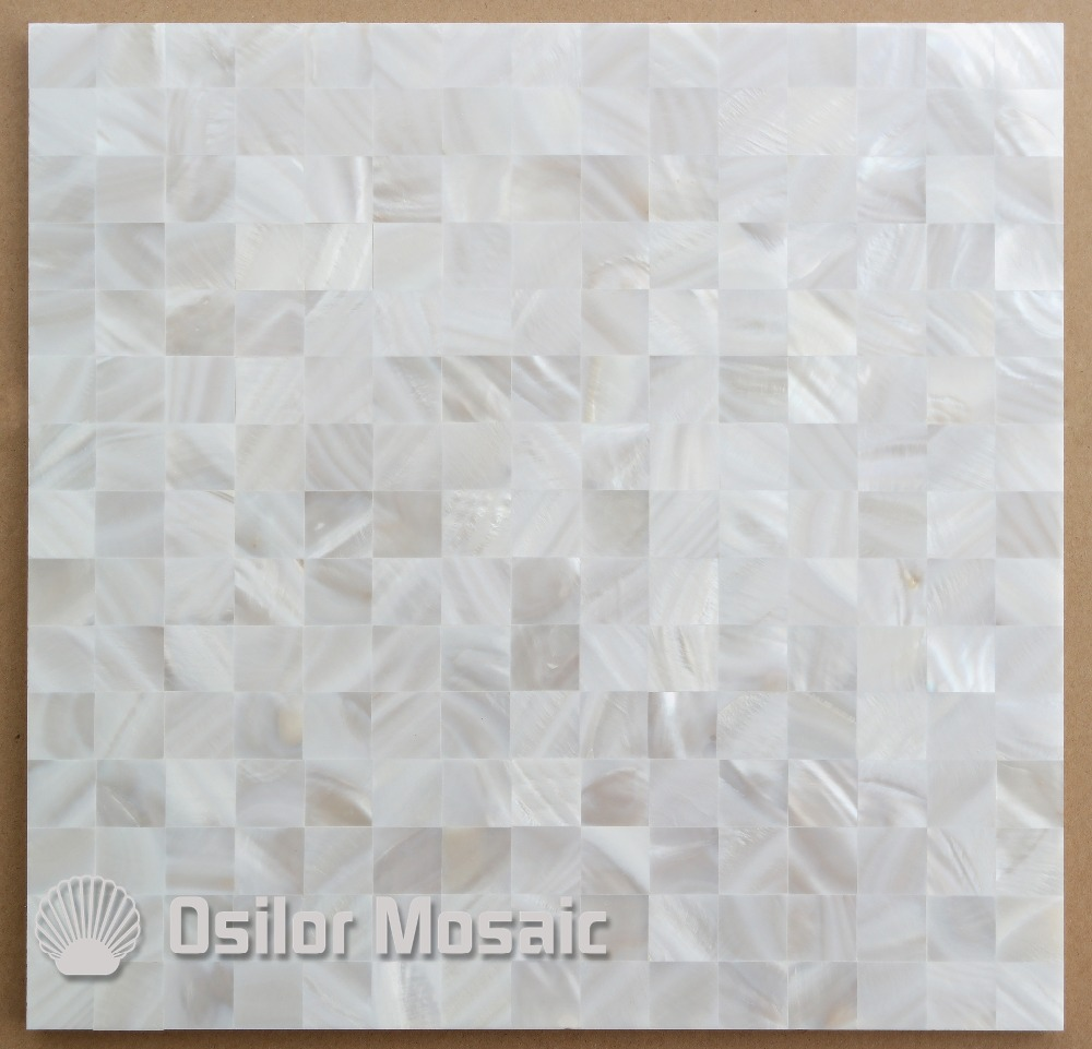 White color square pattern 100% natural Chinese mother of pearl tile for interior house decoration polished shell tile wall tile brick pattern 100% blacklip sea shell natural black color mother of pearl mosaic tile for interior house decoration wall tiles