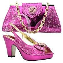 4305e2477c Neueste Fuchsia Farbe Nigerian Party Schuh und Tasche Sets Italienische  Schuhe mit Passenden Taschen für Hochzeit Italien Party .