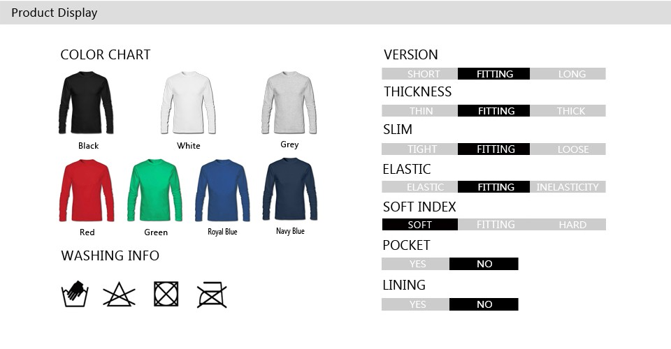 Men Long Sleeve Display