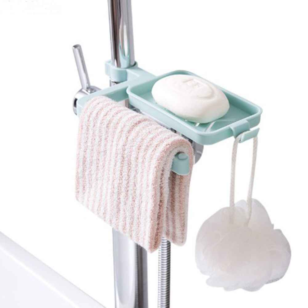 1pc Storage Rack Sink Hanging Storage Holder Soap box Bathroom Kitchen Faucet Clip Dish Cloth Clip household necessary