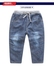 Children 's pants 2016 autumn children' s denim trousers boy 's jeans  Plus velvet thickening children' s wear  age from 2-9T