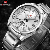 NAVIFORCE Brand Men Watches Luxury Sport Quartz 30M Waterproof Watches Men S Stainless Steel Auto Date