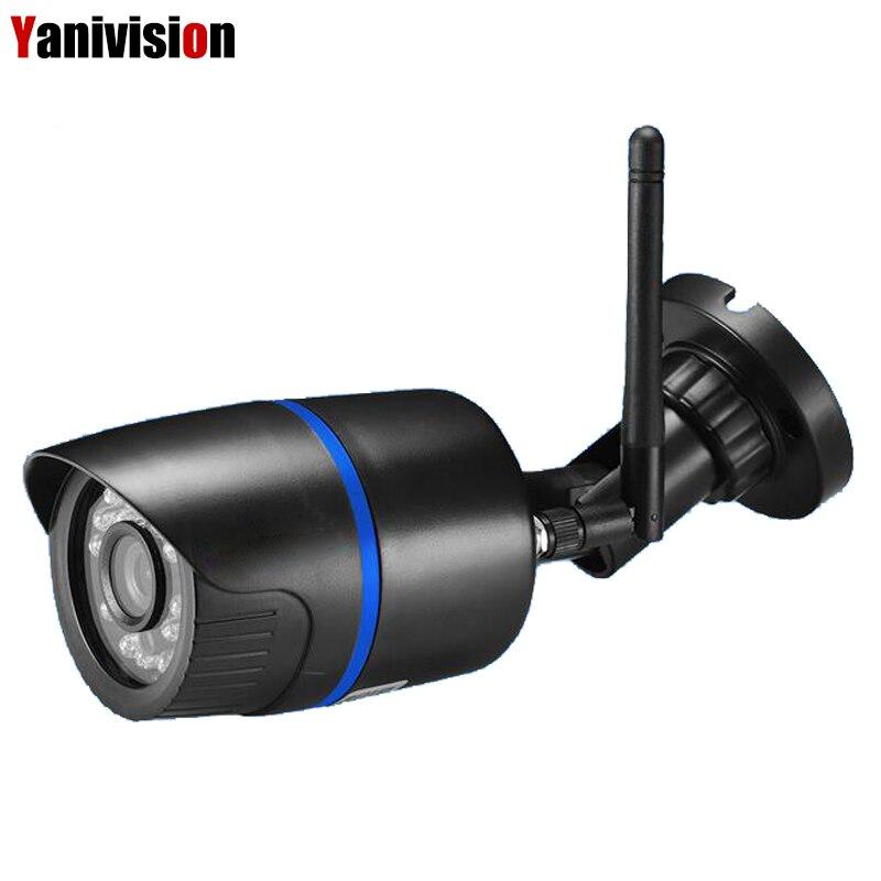 P2P ONVIF avec fente pour carte SD caméra IP sans fil extérieure 1080 P alerte par e-mail détection de mouvement caméra de Surveillance CCTV IP Wifi