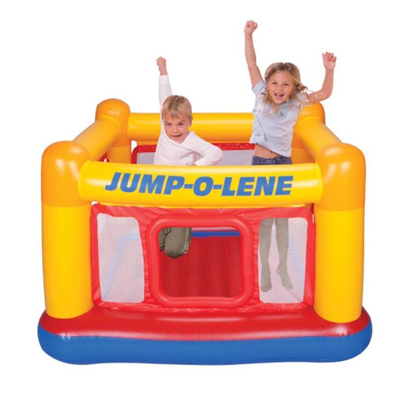 intex Outdoor Fun & Sports Child inflatable toys trampoline 48260 outdoor fun &sport,size 174*174*112cm