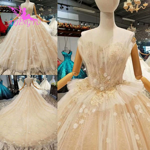 Image 2 - AIJINGYU Wedding Dresses Sequin Budget Gown Russian Luxury Newest Supplies White Long Bridal Gowns Wedding Dress Store