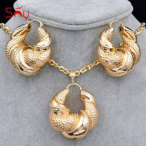 Necklace Earrings Jewelry Pendant Wedding-Copper Romantic Women Big Geometric