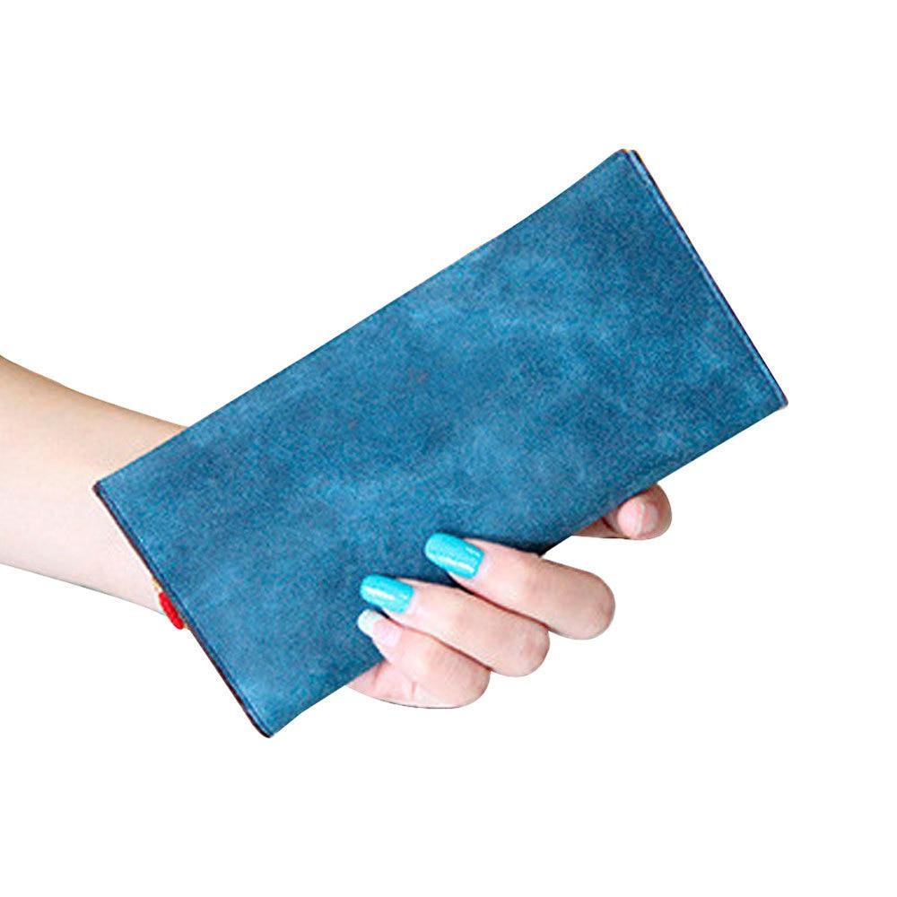 Recomendar Mulheres Bolsa Bolsas Titular do Cartão Senhora Carteira Longa Saco Macio, 7 Cores Moda Bolsas Carteira para Carteira feminina atacado