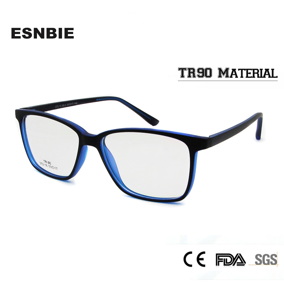 ESNBIE TR90 Eyeglasses Frame Women Men Optical Prescription Eyewear Frame Man Clear Lens Nerd Glasses oculos de grau