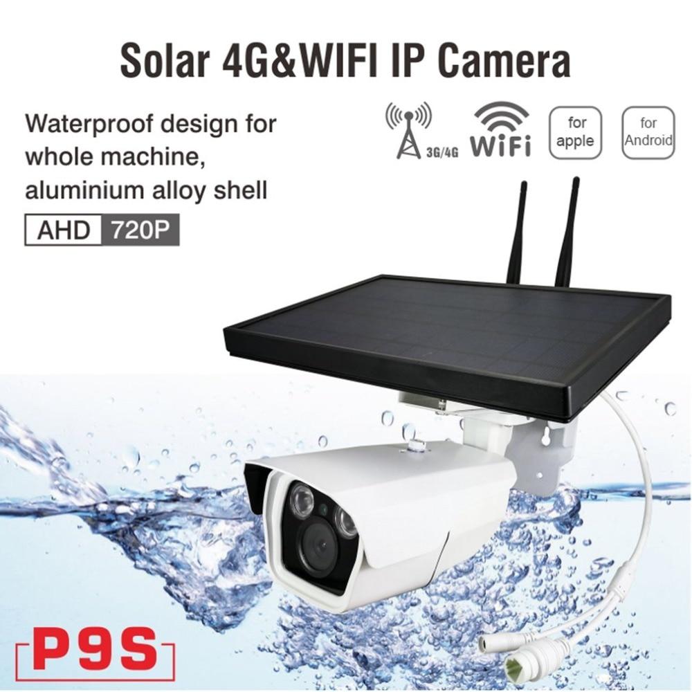 4G 1080P Solar Power Camera Wireless Network 1 Battery Powered IP Camera 3G GSM CCTV Surveillance WiFi Outdoor SIM Card Slot