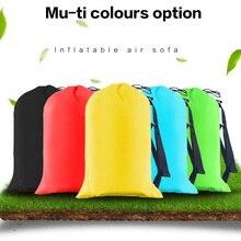 Drop ship Summer Lazy Bag Sleeping Bag Inflatable Camping Air Sofa Bed Banana Lounge Bag Air Bed Lounger 240x70cm