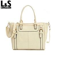 L S New Fashion Women Handbag Vintage Casual Female Tote Bags Double Zipper Design Leather Shoulder
