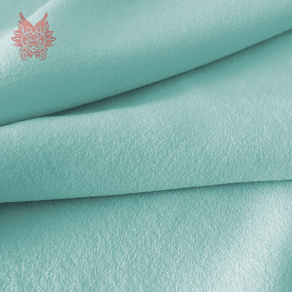 Hot sale Light green solid spandex silk crepe de chine