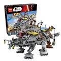 LEPIN 1022 Unids Star Wars Capitán Rex Compatible con LEGOe STAR WARS AT-TE 75157 Bloques de Construcción de Juguete 05032 Niños juguetes de Regalo