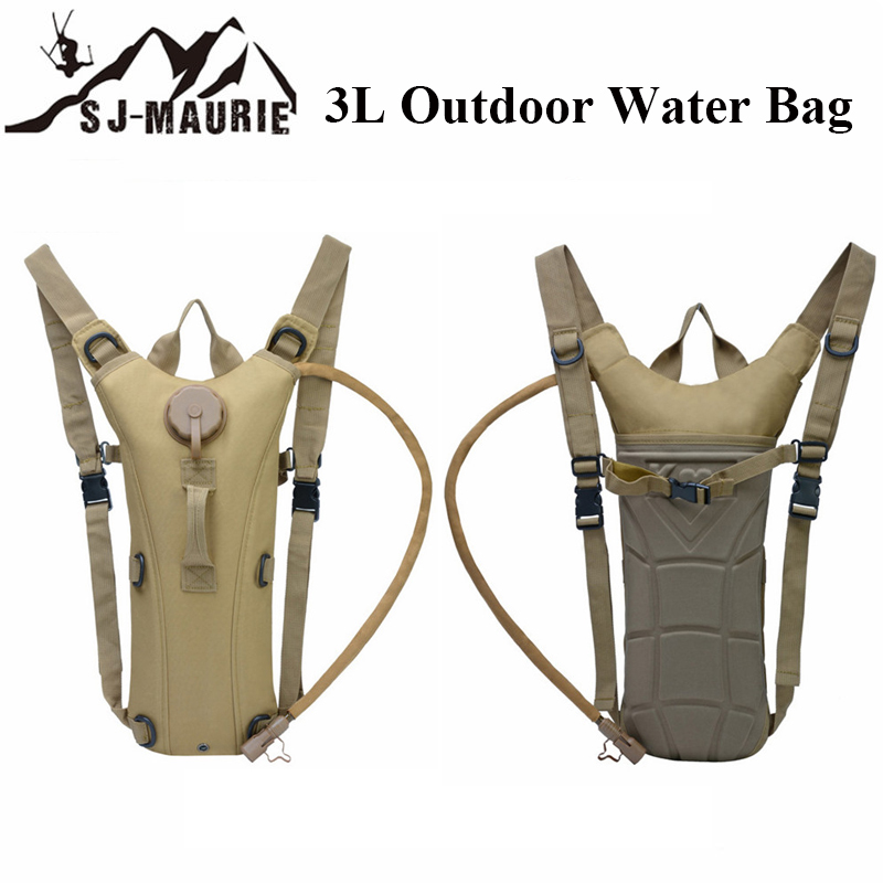 Camping Hiking 3L Water Bag Molle Military Tactical Hydration Backpack Outdoor Camping Camelback Camel Cycling Fishing Water Bag