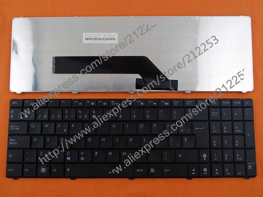 Sp spanyol teclado keyboard untuk asus k50 k50a k51 p50 p50ij k50ij K51 K60 K61 K62 K70 K70IJ F90 X5D X5DC F52 F52A F90SV X70IL