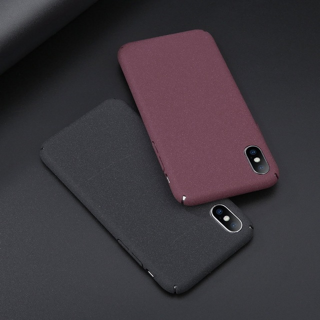 new styles 806c0 3538b US $1.95 30% OFF Luxury Ultra Slim Scrub Sandstone Matte Phone Case For  iPhone 6 6S 7 Plus Hard PC Plastic Shockproof Cover For iPhone X 8 Plus-in  ...