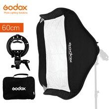 GODOX 60x60 เซนติเมตร 24*24 นิ้วพับได้ Softbox ชุด S Type Stable Bowens Bracket mount สำหรับกล้องกะพริบ