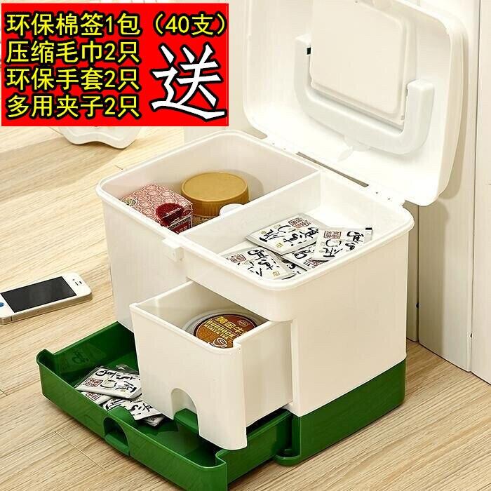 Семья аптечке Многослойные неотложной медицинской помощи медицины бытовой пластиковый ящик для хранения Медицина Box