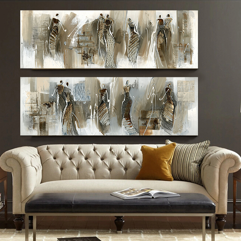 Buy Modern Abstract Oil Painting Canvas Prints African Woman Pictures For