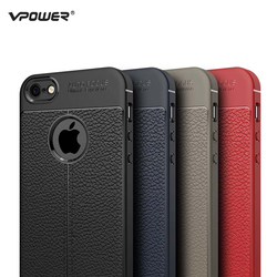 For iPhone 5S Case iPhone Se Cover Vpower Lichee Pattern Shock Proof Soft TPU Cases For Apple iPhone 5 5S Se Phone Back Covers 1