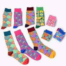PEONFLY European Tide Brand Happy funny Socks Shelley Chaos As Eye Colour Men cotton Personality