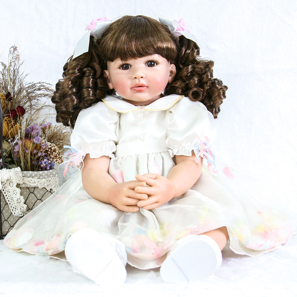 Handmade Silicone Dolls Reborn Toddlers Princess Girl Baby Alive Dolls Toys for Girls Educational Birthday Christmas Gifts Dolls цена