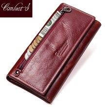 İletişim hakiki deri kadın uzun çanta kadın manşonlar para cüzdan marka tasarım çanta cep telefonu kartlıklı cüzdan