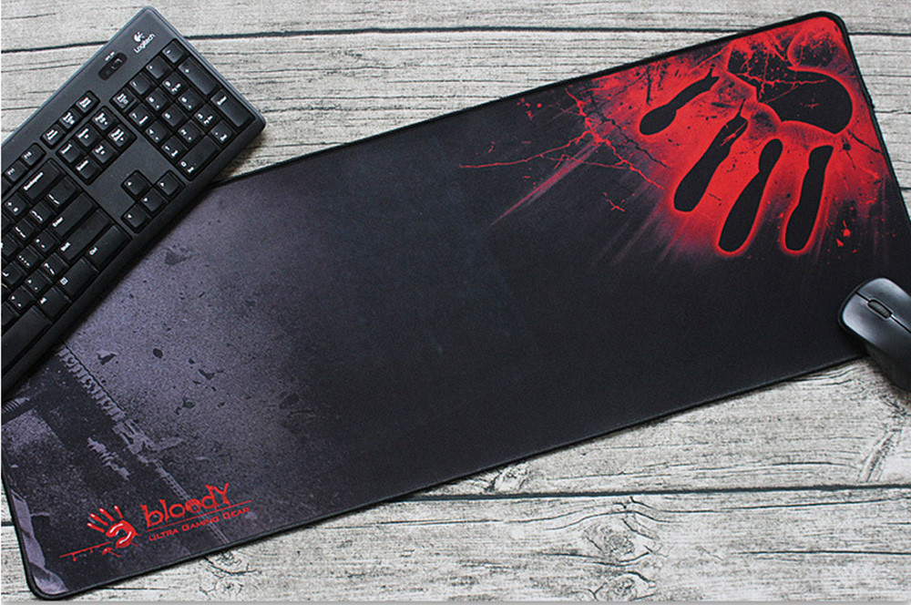 Rubber Large XL 8003003mm Gaming Mouse Pad Laptop Keyboard Mat Stitched Edges_
