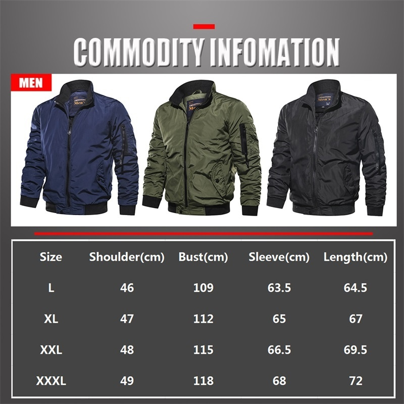 Men's Outwear Baseball Jacket Flight Bomber Coat Mens 2019 Spring Autumn Army Green Military Streetwear Jackets Coats Waterpoof