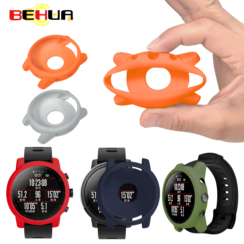 Protector Shell For Xiaomi Huami Amazfit 2/2S Stratos Full Frame Soft Silicone Protective Case For New 2 Stratos Watch Frame