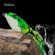 Deshion Topwater 소프트 미끼 개구리 낚시 미끼 15g 13g 8g 6g 소프트 실리콘 미끼 개구리 낚시 미끼 낚시